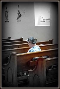 church lady pew tinted